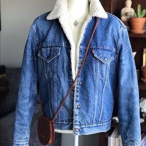 Vintage Levi's Sherpa Denim Jean Jacket Size 44
